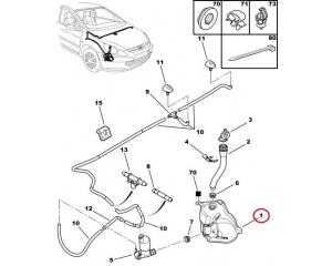 Бачок омывателя Peugeot 307