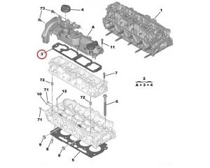 Klapikaane tihend Citroen/Peugeot 1,6HDI Euro5
