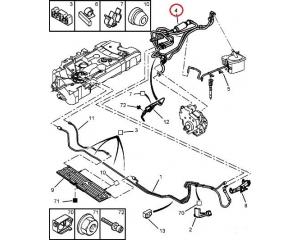 Топливная трубка с ручным насосом Citroen/Peugeot 1,6HDI