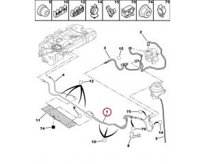 Топливная трубка с ручным насосом Citroen/Peugeot 2,0HDI