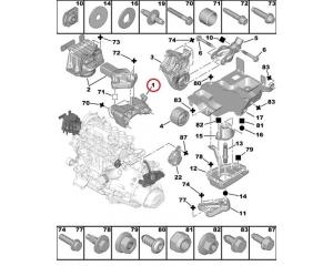 Кронштейн двигателя и приводного вала Citroen/Peugeot