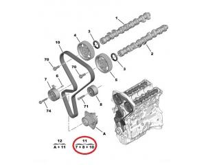 Timing belt kit OEM Peugeot/Citroen  1.6-16v  00-