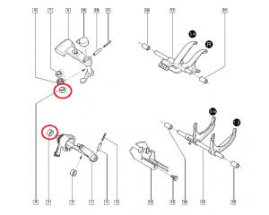 Игольчатый подшипник кулисы нижний Renault PK5/PK6/PF6