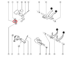 Направляющая втулка кулисы КПП Renault PK5/PK6/PF6