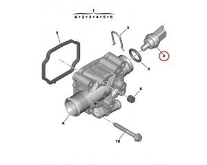 Jahutusvedeliku temperatuuri andur Citroen/Peugeot 1,4-1,6