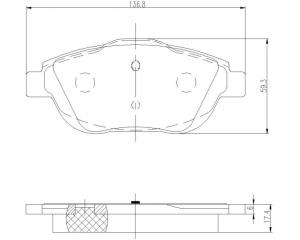 Brake pad set front Citroen C3/DS3