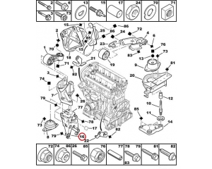 Mootori tugi parem Citroen/Peugeot EW10, EW7