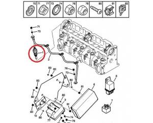 Eelsüüteküünal OEM Citroen/Peugeot 1,9D DW8