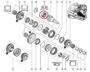 **Käigukasti laager 25x65,7x22 Renault PK5/PK6