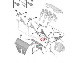 Ruiskutussuutin CR Citroen/Peugeot 2,7HDI DT17TED4