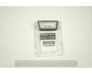 Стекло подсветки номерного знака Renault Megane/Scenic/Megane II