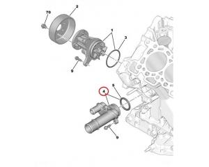 Coolant flange Citroen/Peugeot 2,7-3,0HDI