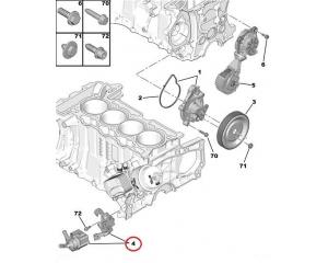 Elektriline veepump Citroen/Peugeot 1,6 EP6-mootorid man.