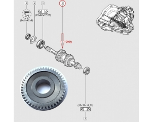 "Gear wheel, sixth gear Renault PF6 gearbox ""28H/⌀ 35mm"""