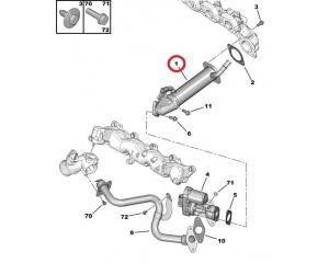 EGR jahuti OEM Jumper/Boxer/Ducato 2,2HDI