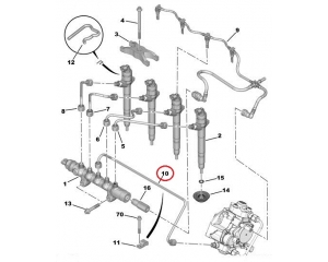 Fuel pipe Jumper/Boxer/Ducato 2,2HDI 2006-