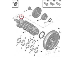 Väntvõlli rihmaratta kiil Peugeot/Citroen