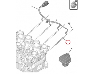 Eelsüüteküünal OEM Citroen/Peugeot 1,4HDI / 1,6HDI