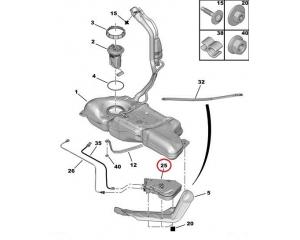 Бак для мочевины сажевого фильтра Citroen/Peugeot