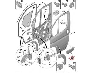 Esiukse koopaääre liist parempoolne Jumper/Boxer/Ducato 2006-