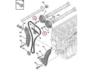 **Nukkvõlli ketiratta polt Citroen/Peugeot EP-mootorid