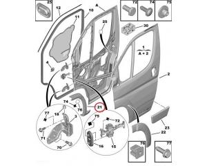 Esi rattakoopa liist vasakpoolne Jumper/Boxer/Ducato 2006-