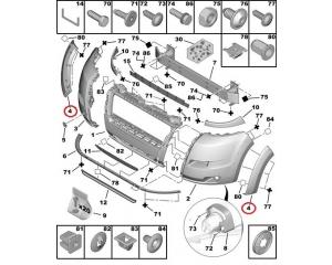Esistange rattakoopa liist parempoolne Jumper/Boxer/Ducato 2006-