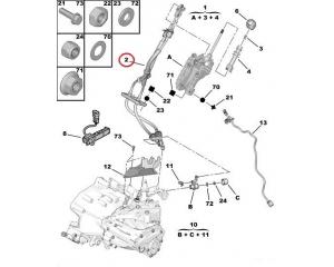 Käiguhoovastiku tross Jumper/Boxer/Ducato 2,2HDI 2011-