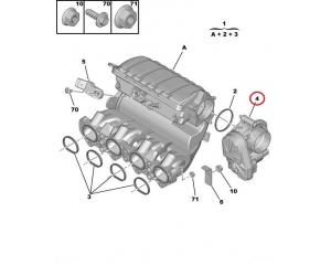 Drosselklapi korpus Citroen/Peugeot 1,6 16V TU5JP4