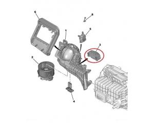 Блок управления салонного вентилятора Citroen C4 Picasso