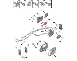 Sliding door actuator Peugeot 1007
