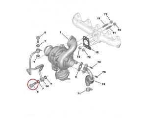 Болт маслянной трубки турбонагнетателя Citroen/Peugeot 1,4/1,6 нижний