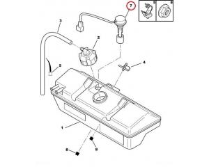 Coolant fluid level sensor PSA/Fiat
