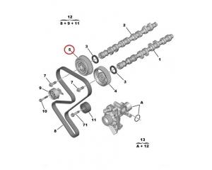 Шкив выпускного распредвала Citroen/Peugeot EW10J4
