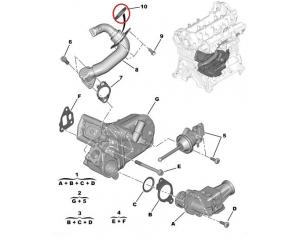 EGR toru rõngas tihend Citroen Nemo/Peugeot Bipper 1,3HDI