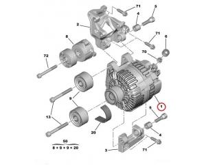 Alternator Citroen/Peugeot 150A