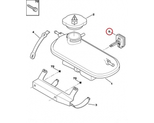 Coolant fluid level sensor Citroen Peugeot