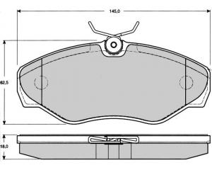 Esipiduriklotside komplekt Renault Trafic II/Opel Vivaro