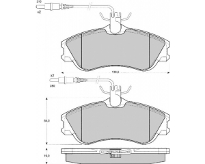 Front brake pad kit Citroen Xsara/Berlingo; Peugeot Partner