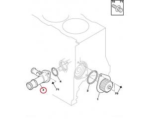 Coolant flange Citroen/Peugeot TU5JP/XU engines ORIGINLA PART!