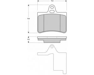 Tagapiduriklotside komplekt Citroen C5