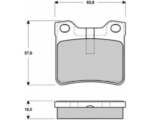 Brake pad set rear Peugeot 406/607