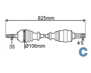 Veovõll komplektne vasak Jumper/Boxer/Ducato 2,2HDI 2006-