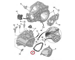 Käigukasti otsakaane tihend Citroen/Peugeot MA k.kast