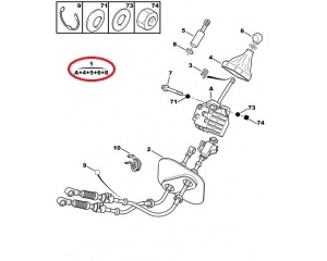 Рычаг переключения передач с кулисой Jumper/Boxer/Ducato 02-06