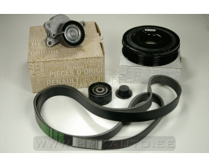 Alternator belt kit with crankshaft pulley Renault 2,0DCi (with AC)
