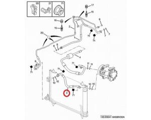 Airo conditioner hose Citroen C5/Peugeot 407