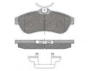 Brake pad set front Citroen C2/C3