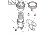 Fuel filter with housing Citroen/Peugeot 2,0HDI (3 pipes)