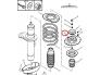 Опорный подушка переднего амортизатора Partner/Berlingo/Xsara/ZX машини без усилителя руля